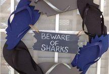 SHARK WEEK PARTY!! / Shark festivities!  / by Lara Gallacher