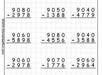 Subtraction Worksheets / www.worksheetfun.com/category/math-worksheetfunmenu/subtraction/ / by www.worksheetfun .com