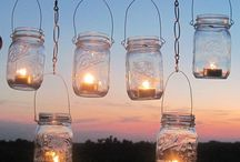 Mason Jars / So many uses for the mason jar. Crafts, recipes, lights, and more. / by Allens Boots