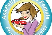 Certified Female Friendly Automotive Retail Locations / Women can find an Ask Patty Certified Female Friendly® auto dealer, tire dealer, collision center, auto service, quick lube and repair centers using the location search at AskPatty.com / by Jody DeVere