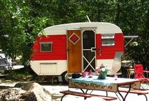My * Vintage Trailer / This is my sweet little 13 ft. vintage trailer! She is a 1957 Jewel. I have had many fun camping trips with her and have used her many times to sale my crafts out of at market places. Even used her for my Granddaughter's birthday party! xox / by The Beehive Cottage ~ Maryjane