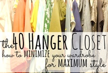 Closet Organization / Keeping My Closet Small and Tight / by Hannah Joyce