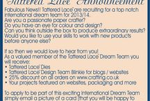 Tattered Lace Dies Accouncements / by Tattered Lace Dies