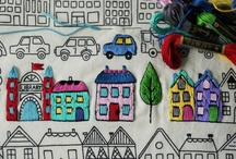 Embroidery / by Karin Jordan {Leigh Laurel Studios}