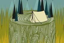 Campy Camp / camping and woodland / by cry wolf