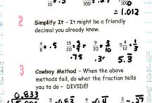 Math, fractions / by Lilly Rivas-Waits