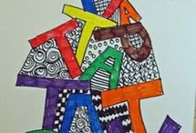 kid art - letter/word art / by ms art