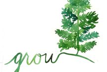 GROW / One Little Word 2014 / by Sarah White/Our Daily Craft