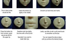Doll Sculpting Mouth Lips Tutorial DIY / by Iris