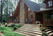 Dream House Ideas / I don't need a mansion with 26 bathrooms to be happy.  My ideal dream house is a log home, seated on 5-10 acres, overlooking the sunset side of Lake Superior on the Keweenaw Peninsula of Michigan. I'll settle for a yurt though, as long as I get my beach. / by Megan Noble