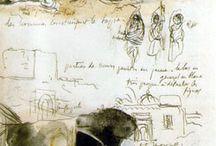 Sketchbooks d'artistes connus / by Elisabeth Couloigner