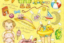 muñecas de papel / hermoso recuerdo / by Karin Imola Gottig