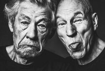 SirsIanMcKellen&PatrickStewart / These two are best friends. Such amazing actors and probably take the best photos ever! / by Paige Ramey(: