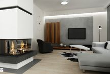 SZARY SALON / grey living room / by Homebook.pl