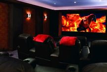 5.1 Basement Media home theatre / Cinema room/gamer room / by J M D