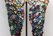 """Mixed & Other Media / Jewelry and small sculptural pieces using #mixed-media, #resin, #plastics, #rubber, #zippers, and other media.  ***Please help stop coral reef destruction for jewelry by refusing to buy, use, or pin """"new"""" coral pieces.*** #jewelry #jewellery / by Carolyn Sorensen"""