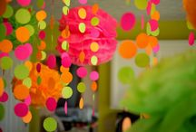PARTY ON:Neon sherbet and zebra. / by Tiffany Benson <PaperLaneDesign>