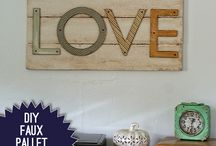 Foam Pallet Art / Pallet art with no heavy lifting or power tools....sign me up! / by MakeitFunCrafts