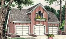 Detached Garage Plans with Apartment Above / Our garage house plans that feature a livable space for guests, children or in-laws. See more garage plans at: http://www.thehousedesigners.com/garage-plans / by House Plans by The House Designers