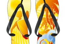 Graphic Flip Flops for Kids / Kids Flip Flops / by Hot Buckles and Fashion Apparel