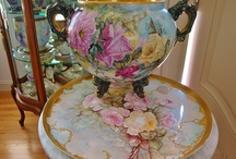 Handpainted Limoge Porcelain / Antique & Vintage Handpainted Limoge, Belleek, Sevres,  and other fine #Porcelain on Ruby Lane. Chocolate Pots, #Jardiniere, Plate, Cups & Saucers, Footed Bowls, Lamps, #Vanity Items, Serving Trays, Vases, Cache Pot, Framed Plaques, Urn, and more. www.rubylane.com / by Ruby Lane Vintage
