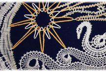 Lace - my design / I love bobbin lace. I make bobbin lace nearly 30 years. Sometimes I design new patterns for me and my friends. Visit my blog http://palickomanie.blogspot.cz/ / by Vladka Cepakova
