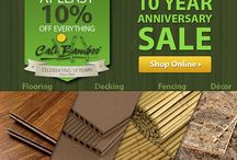 Cali Bamboo Turns 10! Biggest Sale Ever / We're offering AT LEAST 10% off EVERYTHING in honor of our 10 year anniversary. Use the promo codes to save on bamboo flooring, bamboo fencing, composite decking and more. / by Cali Bamboo