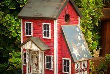 Birdhouses / by Primitive Folk Artist Sue Corlett