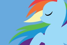 ♥RAINBOW DASH♥ / MAKE IT 20% MORE COOLER THAN THE OTHER MLP BOARDS :3 / by Sydney Wilcox