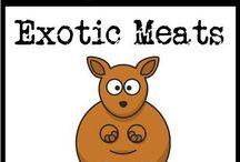 """Exotic Meat Recipes / paleo, gluten-free, and grain-free recipes containing """"exotic"""" meats and offal / by Cavegirl Cuisine"""