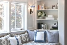 Home: window seats / Window seat, reading nook, built-in / by Pam Good