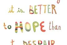 better to hope / by Maria de Benedictis