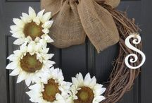 burlap....wreaths.....oh my!!!! / by Traci Sullivan