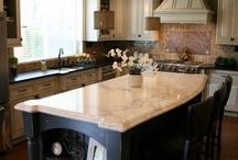 Kitchen remodel / kitchen update ideas, sinks, drawers, lighting, flooring, cabinets, backsplash, countertops / by Linda Siebach