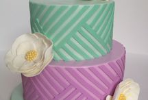 Cake - Lines and Flowers / by Ennas' Cake Design - Irina Salazar