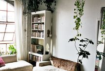 Rustic Elegance / It's the lovechild of mid century modern and shabby chic with a bit of downtown boho loft thrown in for good measure. I love spaces that don't appear contrived...white walls and weathered wood, comfy places to curl up in...that's where my dreams lie. / by Heather Martin