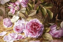 Flower art- roses, peonies / by Evelyn Chow