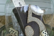 wedding table number ideas / by Cori Wiza