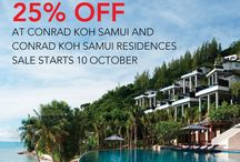 Special Offers / Book Early Save More! Check our special promotion and the period of stays here.  / by Conrad Koh Samui