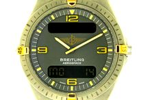 Pre-Owned Breitling / A specialist of technical watches, Breitling has played a crucial role in the development of the wrist chronograph and is a leader in this complication. The firm has shared all the finest moments in the conquest of the skies thanks to its sturdy, reliable and high-performance instruments. / by Manfredi Jewels