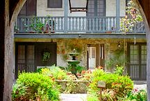 Courtyards, Patios, Porches & Terraces / by Mary P Brown