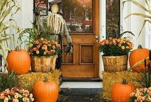 Porches / Porch Decor, Front Doors, House Numbers, Fall Porches / by Tiffany Hewlett {Making The World Cuter}