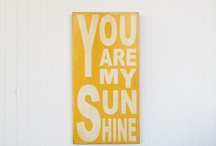 """You Are My Sunshine"" Pink, Yellow & Coral Nursery / by See Vanessa Craft"