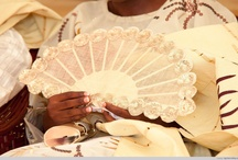 Nigerian Traditional Engagement Hand Fans / The hand fan popularly called Abebe in Nigeria is mostly used by brides to complete their outfit for their traditional engagement ceremony. We do not know how the use came into existence for brides, but all we know is that, the hand fan has become a perfect accessory for modern brides since its invention many centuries ago, it has become a part of the Nigerian traditional engagement attire, an indispensable accessory, work of art and a sign of elegance. Check out the collections below, pin away! / by Nigerian Wedding