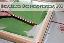 Screen printing / by Sweet Little Nursery