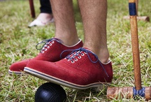 Lawn Party / An afternoon on the lawn and a low-stakes game of croquet lets these friends take a walk on the brighter side, with style that's loosened-up, lightened-up, but winning nonetheless. / by Johnston & Murphy