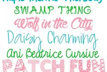 Fonts / by Melissa Drane