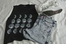 Clothes  / Pants, shorts, shoes, tops, dresses  / by Erika Magicskull