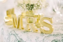 Gold Wedding Details / by Snippet & Ink