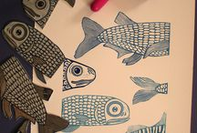 lino and block printing inspiration / by Sonja Meichle Johnson